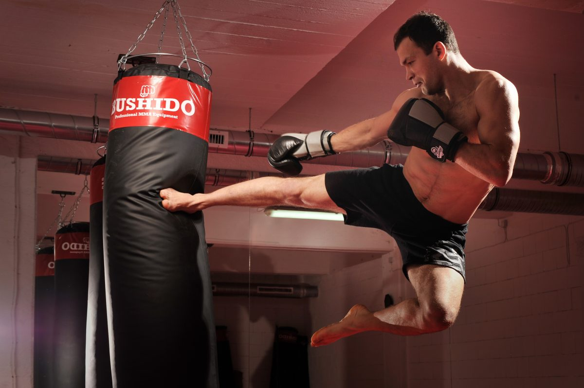 FightZone.nl - martial arts products, services and nutritional supplements - Bushido - training in the gym - slider image 1